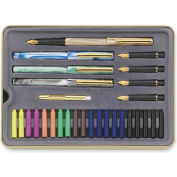 Staedtler® Calligraphy Pens Set, Assorted Ink, Assorted Barrel, 5/Pack