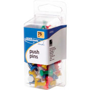 Swingline Push Pins - 75 / Pack - Assorted