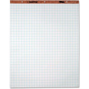 """TOPS 1"""" Grid Square Ruled Easel Pad - 50 Sht - 15 lb - Quad Ruled - 27"""" x 34"""" - 2/Carton - Wht Paper"""
