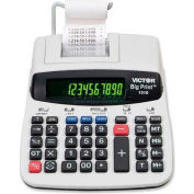 "Victor® 10/12-Digit Calculator, 1310, Thermal Printing, 7-3/4"" X 10"" X 2-1/2"", White"
