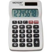 "Victor® 8-Digit Handheld Calculator, 700, 2-1/4"" X 4"" X 1/4"", Grey"