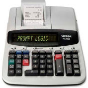 "Victor® 14-Digit Calculator, PL8000, Thermal Printing, 8-1/2"" X 12"" X 3-1/2"", Grey"