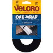 "VELCRO® Brand U.S.A. Inc One-Wrap Adhesive Straps, 3/4""x12', Black"
