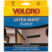 "VELCRO® Brand U.S.A. Inc Fastener Tape, Hook/Loop, Water-Resistent 1""x10', Black"