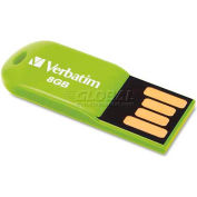 Verbatim® Micro USB Drive, 47423, 2.0, 8GB, Green