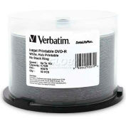Verbatim® DVD-R, 95079, 16X Speed, 4.7GB, Inkjet/Hub Printable, 50/Pk, White