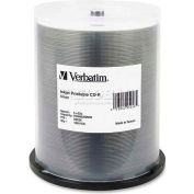 Verbatim® CD-R Discs, 95256, 52X, 700MB/80Min, Inkjet Printable, Spindle, 100/Pk, Silver