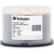 Verbatim® DVD-R, 95355, 8X Speed, 4.7GB, Spindle, 50/Pk, Gold