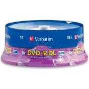 Verbatim® DVD+R, 95484, 8X Speed, 8.5GB, Branded, Double Layer, 15/Pk