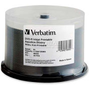 Verbatim® DVD-R, 96552, 8X Speed, 4.7GB, Printable, 50/Pk, White
