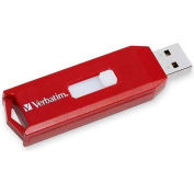 Verbatim® USB Flash Drive, 97005, Store 'N' Go, USB 2.0, 64GB, Password Protection, Red
