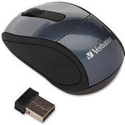 "Verbatim® Wireless Mini Travel Mouse, 97470, 2"" X 3"" X 1-1/4"", Graphite"