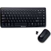 "Verbatim® Wireless Slim Keyboard & Mouse, 97472, 12-1/2"" X 5-1/4"" X 1"", Black"