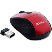 "Verbatim® Wireless Mini Travel Mouse, 97540, 2"" X 3"" X 1-1/4"", Red"