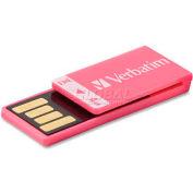 Verbatim® USB Flash Drive, 97549, Clip-It, 4GB, Pink