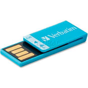 Verbatim® USB Flash Drive, 97550, Clip-It, 4GB, Blue