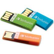 Verbatim® USB Flash Drive, 97563, Clip-It, 4GB, 3/Pk, Assorted