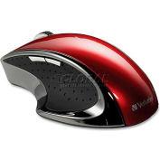 "Verbatim® Ergo Desktop Mouse, 97592, 3"" X 4-1/4"" X 1-1/2"", Red"