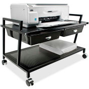 """Vertiflex Products® Underdesk Machine Stand w/Drawer, 25-1/4""""x15-3/4""""x15-3/4"""", Black"""