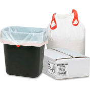 Bulk Tall Kitchen Drawstring Trash Bags - White, 13 Gallon, 0.9 Mil, 200/Box