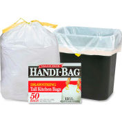 Webster Drawstring Trash Liners - White, 13 Gallon, 0.69 Mil