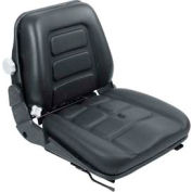 """TVH Parts Vinyl Forklift Seat with Switch SY1960 - 19""""W x 19-11/16""""D x 19""""H"""
