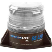 Meteorlite™ 55 Low-Profile Strobe Light - 12-80V - Permanent Mount - Clear - SY361005L-C-LED