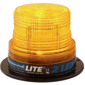 Meteorlite 2 Low-Profile Strobe Light, 12-80 Volts, Permanent Mount, Amber SY361100-A-LED