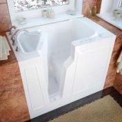 MediTub 2646 Series Rectangular Air Jetted Walk-In Bathtub, 26 x 46, Left Drain, White