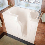 MediTub 2646 Series Rectangular Soaking Walk-In Bathtub, 26 x 46, Right Drain, Biscuit