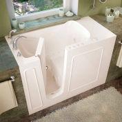 MediTub 2653 Series Rectangular Air & Whirlpool Walk-In Bathtub, 26 x 53, Left Drain, Biscuit