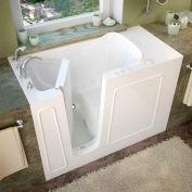 MediTub 2653 Series Rectangular Air Jetted Walk-In Bathtub, 26 x 53, Left Drain, White