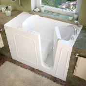 MediTub 2653 Series Rectangular Air Jetted Walk-In Bathtub, 26 x 53, Right Drain, White