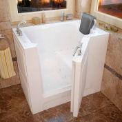 MediTub 2739 Series Rectangular Air & Whirlpool Walk-In Bathtub, 27 x 39, Left Drain, White