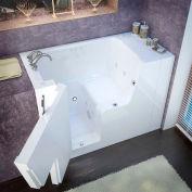 MediTub 2953WCA Series Rectangular Air & Whirlpool Walk-In ADA Bathtub, 29 x 53, Left Drain, White