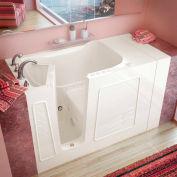 MediTub 3053 Series Rectangular Air & Whirlpool Walk-In Bathtub, 30 x 53, Left Drain, Biscuit