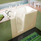 MediTub 3054 Series Rectangular Air Jetted Walk-In Bathtub, 30 x 54, Left Drain, Biscuit