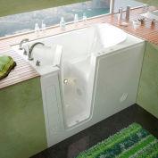 MediTub 3054 Series Rectangular Whirlpool Walk-In Bathtub, 30 x 54, Left Drain , White