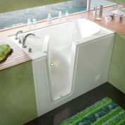MediTub 3054 Series Rectangular Soaking Walk-In Bathtub, 30 x 54, Left Drain, White
