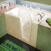 MediTub 3054 Series Rectangular Whirlpool Walk-In Bathtub, 30 x 54, Right Drain , Biscuit