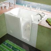 MediTub 3054 Series Rectangular Whirlpool Walk-In Bathtub, 30 x 54, Right Drain , White