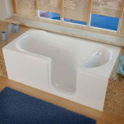 MediTub 3060 Series Rectangular Whirlpool Walk-In Bathtub, 30 x 60, Right Drain , White