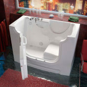 MediTub 3060WCA Series Rectangular Air Jetted Walk-In ADA Bathtub, 30 x 60, Left Drain, White