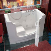 MediTub 3060WCA Series Rectangular Air & Whirlpool Walk-In ADA Bathtub, 30 x 60, Right Drain, White