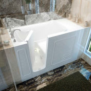 MediTub 3060 Series Rectangular Whirlpool Walk-In Bathtub, 30 x 60, Left Drain , White