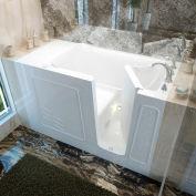 MediTub 3060 Series Rectangular Air Jetted Walk-In Bathtub, 30 x 60, Right Drain, White