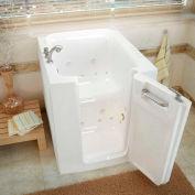 MediTub 3238 Series Rectangular Air & Whirlpool Walk-In Bathtub, 32 x 38, Offset Drain, White