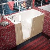 MediTub 3260 Series Rectangular Whirlpool Walk-In Bathtub, 32 x 60, Left Drain , Biscuit