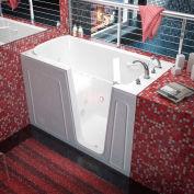 MediTub 3260 Series Rectangular Air & Whirlpool Walk-In Bathtub, 32 x 60, Right Drain, White