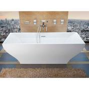 Atlantis Whirlpools Gulf Rectangular Soaking Bathtub, 32 x 71, Center Drain, White